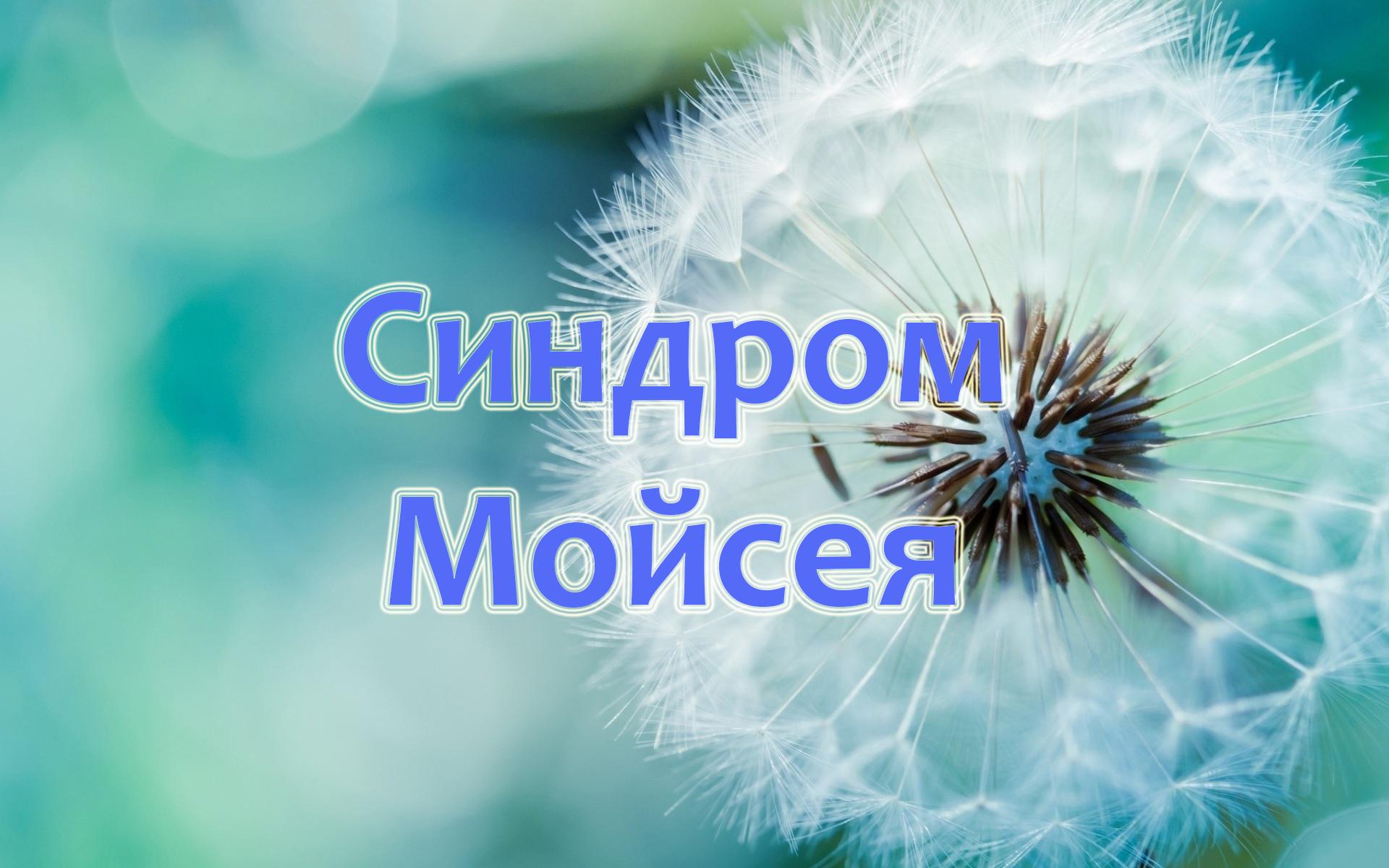 Проповідь Синдром Мойсея